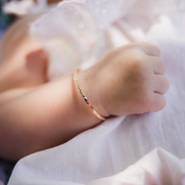 Up Close Baby Bangle On Model