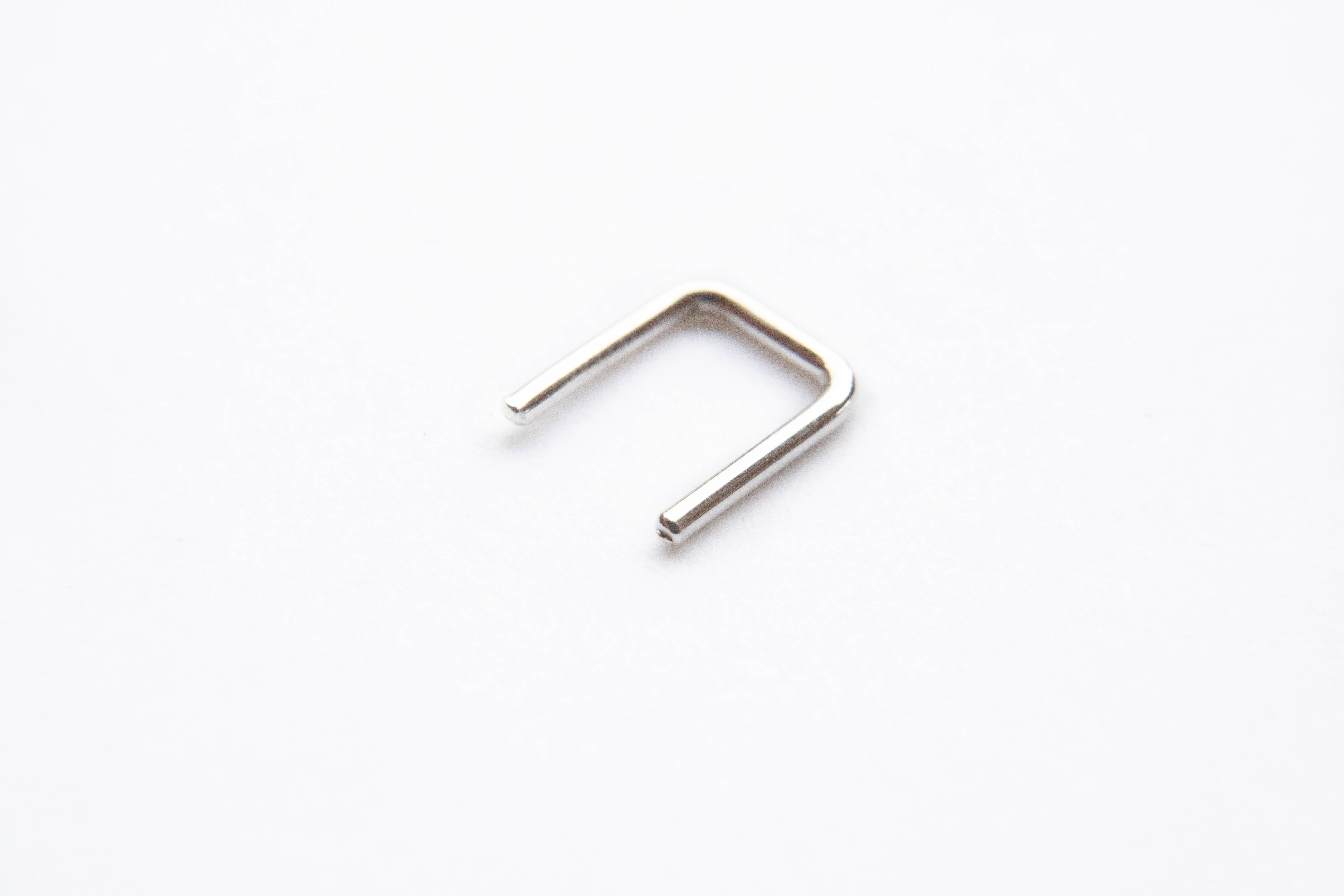 Septum Retainer Round Gold Choose Your Metal and Gauge
